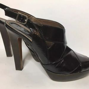GUC $900 Marni Patent Platform Sandals Heels 8.5
